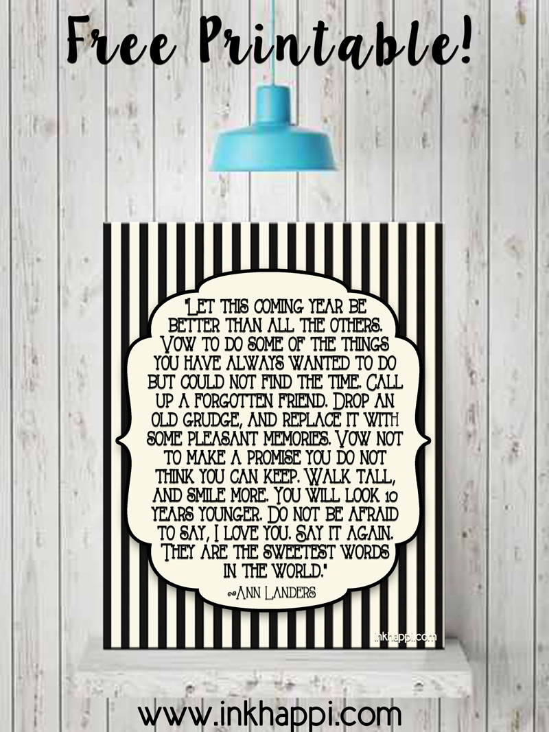 New Year Quotes... free printables! - inkhappi