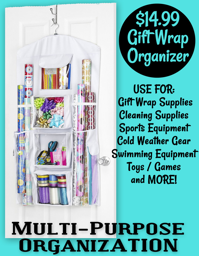 Gift wrapping tips and organization including free printable gift tags!