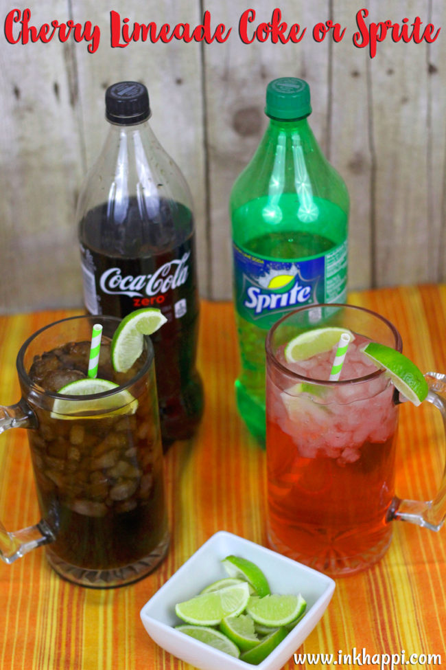 Cherry Limeades with coke or Sprite!