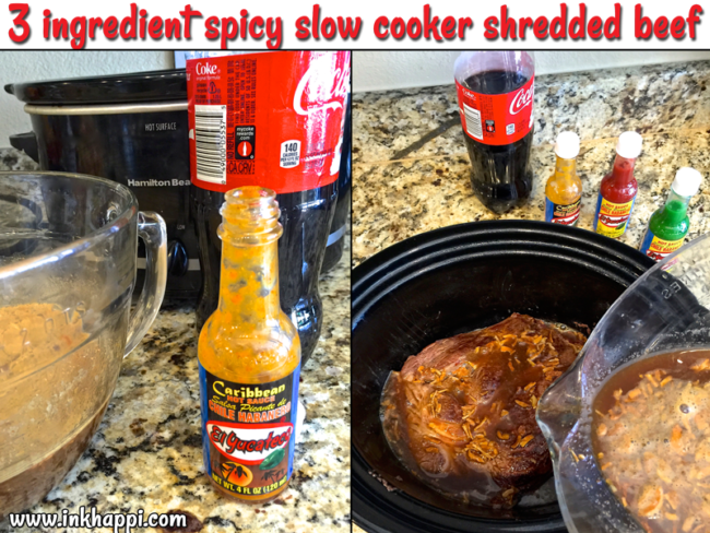 Spicy Slow Cooker Shredded Beef, Nachos, and Cherry Coke Recipes. Oh my yummy!!