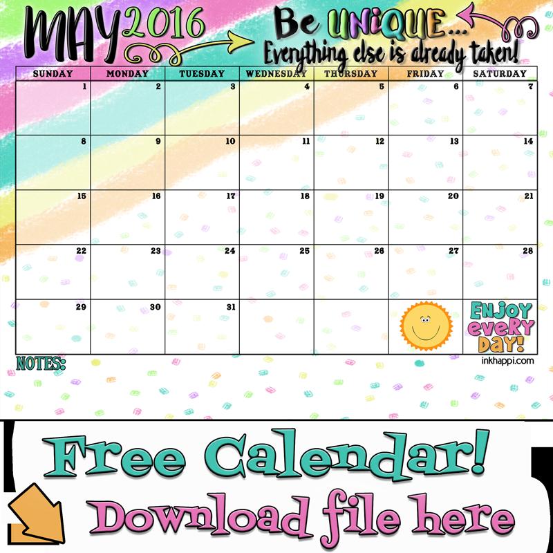 Calendar May Png : May calendar and print inkhappi