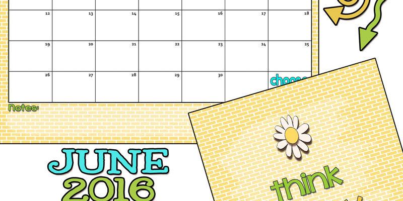 June 2016 Calendar… Let's have some summer fun!