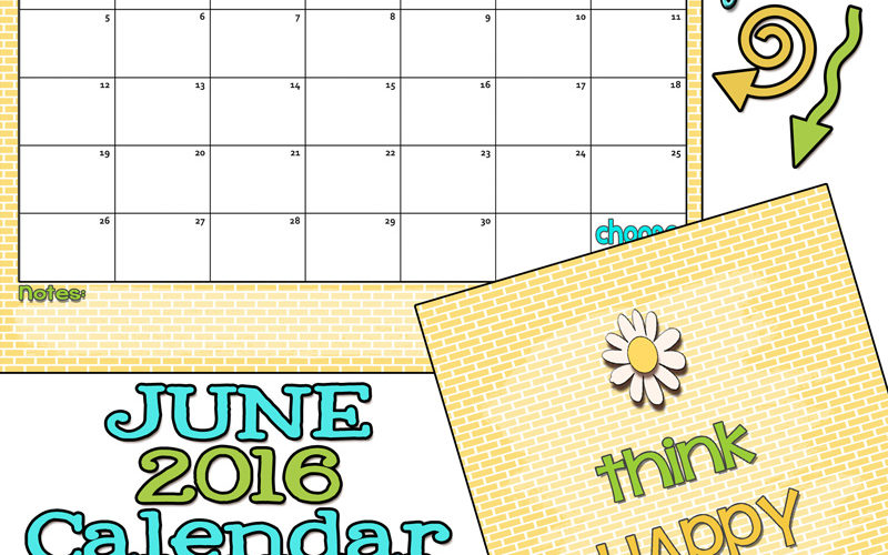June 2016 Calendar… Let's have some summer fun!