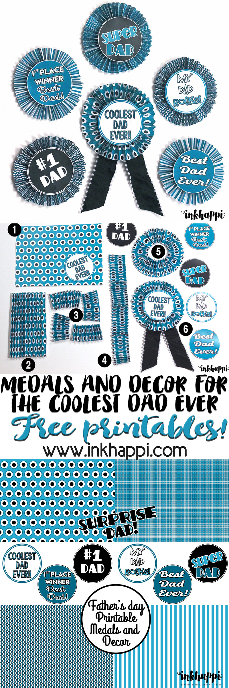 fabulous fathers day craft from 1 simple printable inkhappi