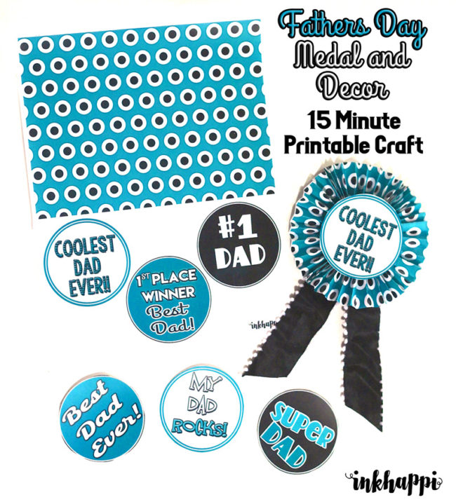 Quick, easy, simple, and FABULOUS Fathers day Craft that can be made in 15 minutes or less from 1 free printable!