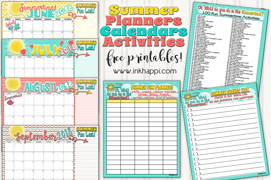 Here's to an awesome summer after planning ahead with this summer bucket list, planners and calendars!