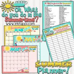 Summer Planning Calendars and ideas!