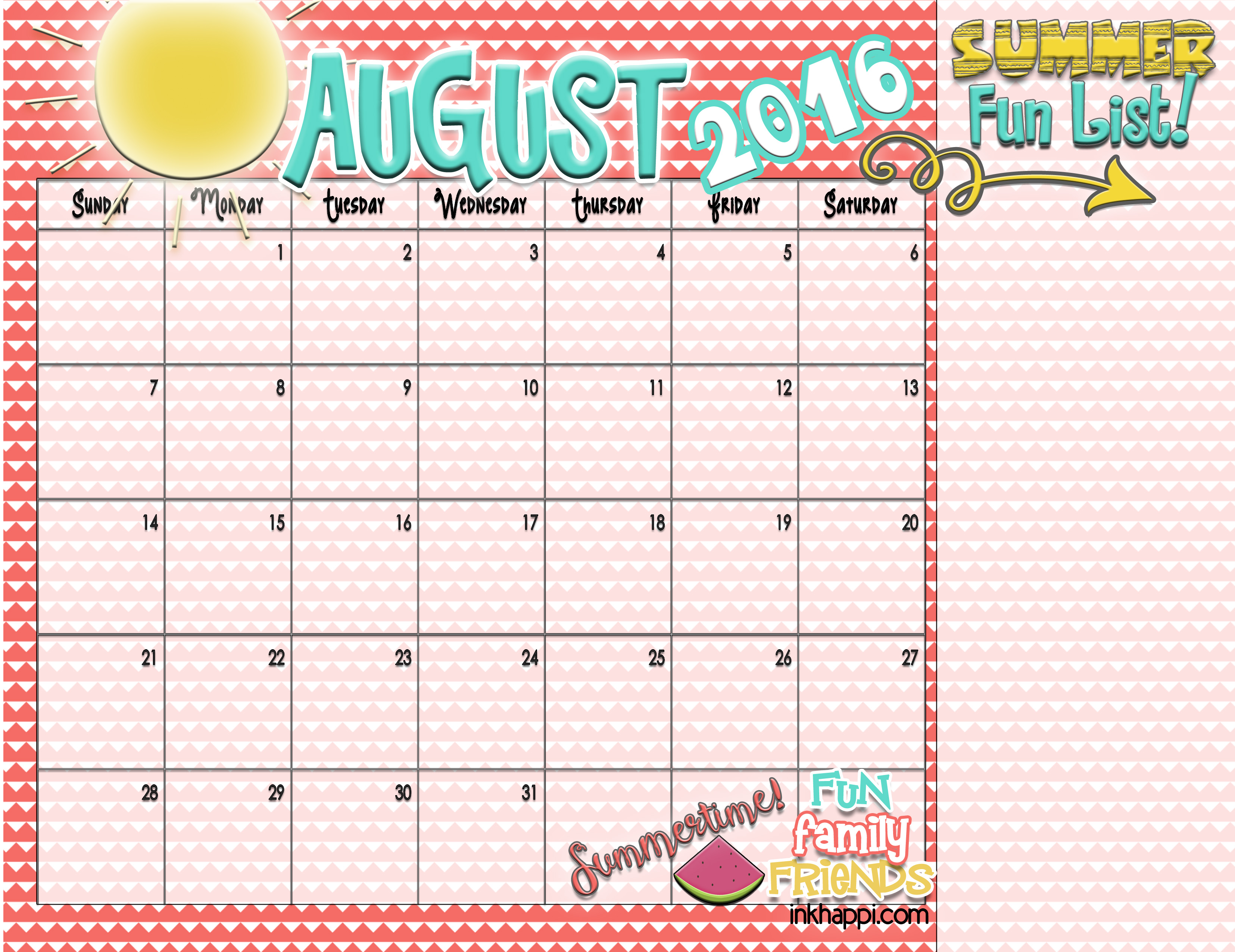 summer planning calendars and ideas inkhappi