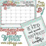 September 2016 Calendar… There is confetti everywhere!