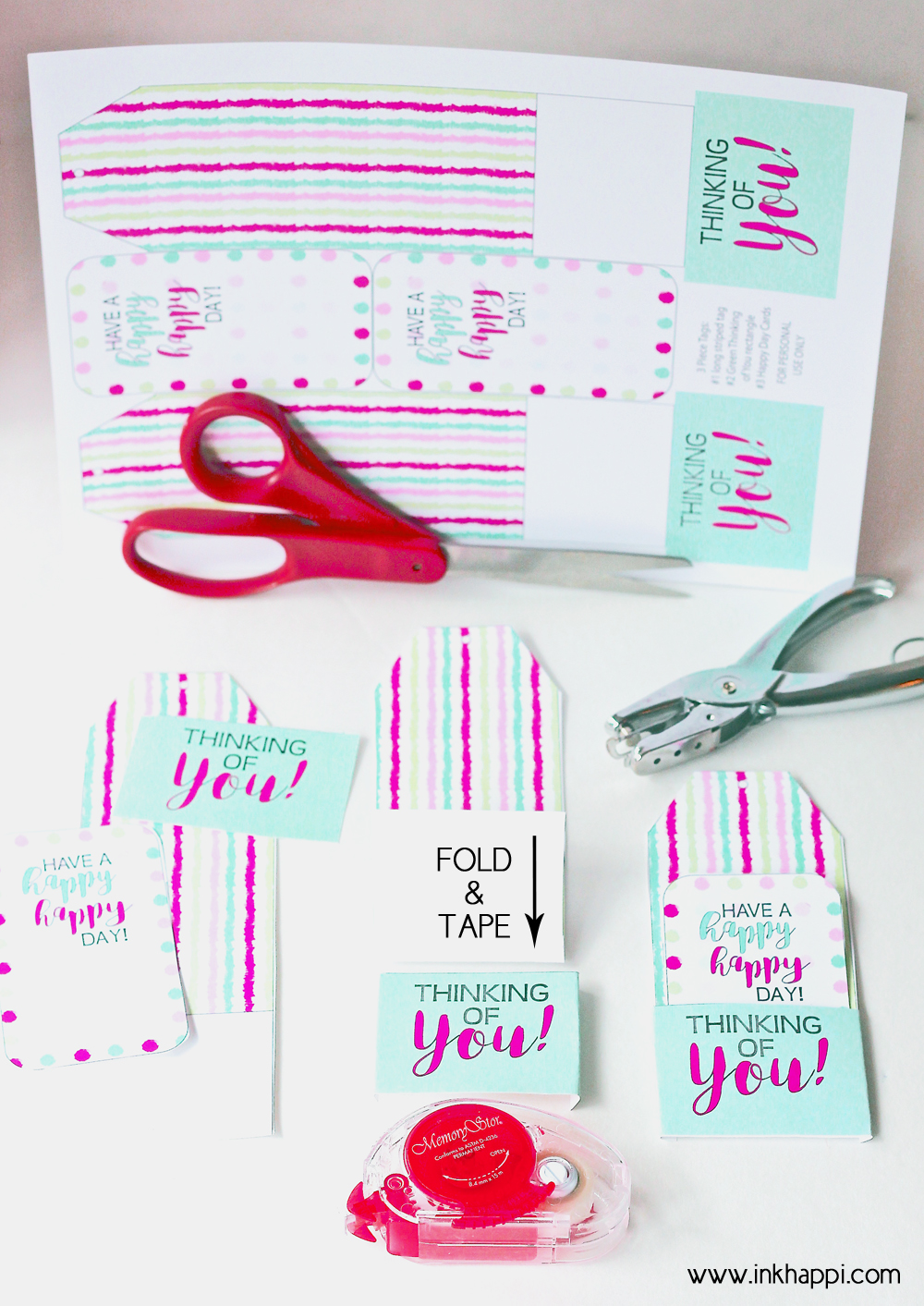 Print out these FREE Printable Thinking of You Gift Tags for a special gift for a friend! They'll definitely brighten up anyone's day!