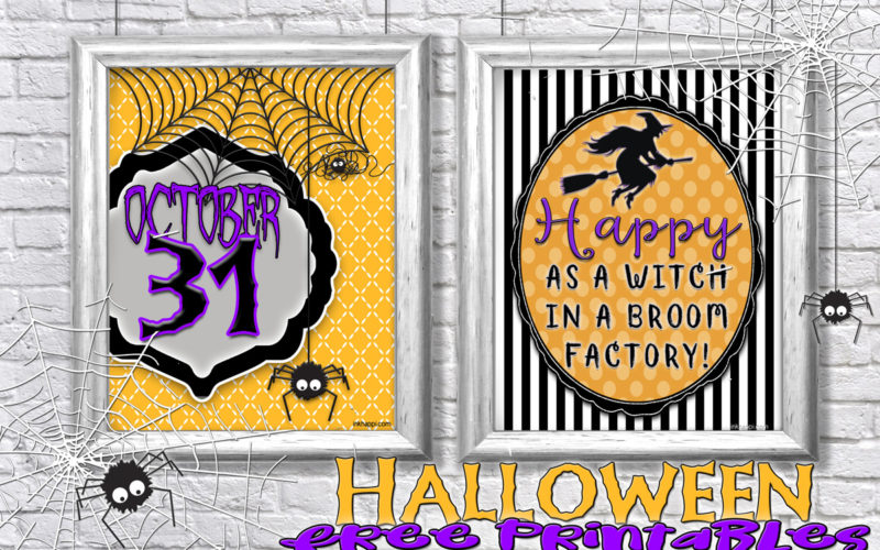 Some free halloween prints to add some fun to your halloween decor!