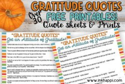 42 fabulous gratitude quotes and many free printables as well at inkhappi.com #gratitudequotes #freeprintables #gratitude, #thanksgiving #quotes