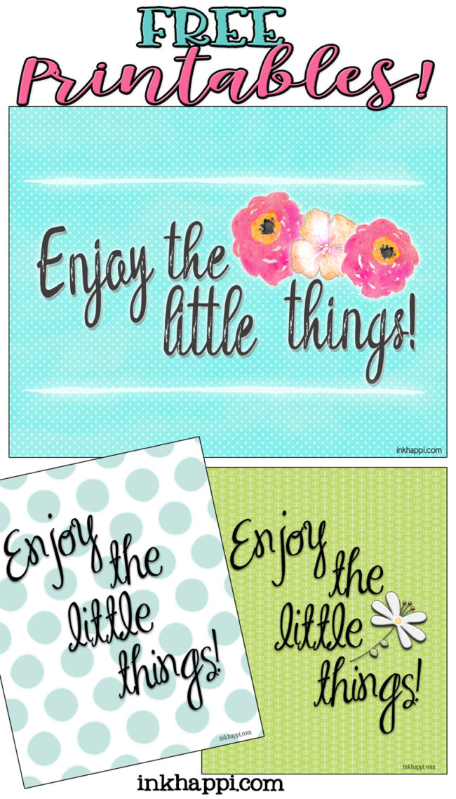 Enjoy the little things...Free Printables! Start of the year with this January 2017 Calendar and print!