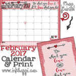 February 2017 Calendar… Love what you do!