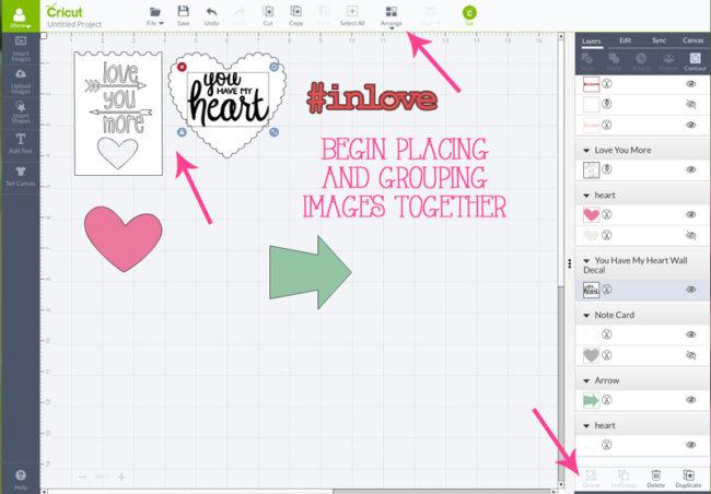 Valentine Magnets. A fun and easy Cricut Explore Valentine project!