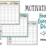 Motivational Food and Exercise Diary. Free printable!