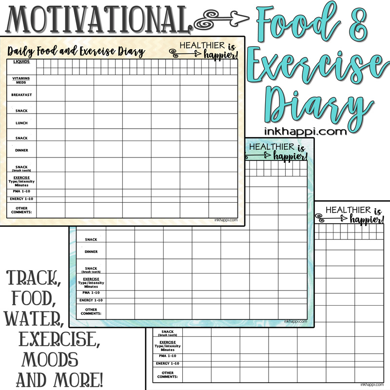 It is a picture of Crush Printable Food Diary