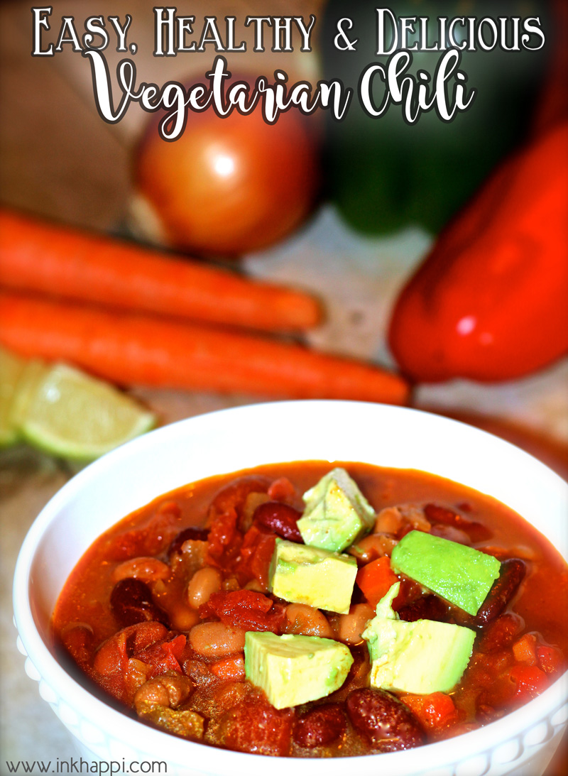 Vegetarian Chili…Easy, Healthy and Delicious!