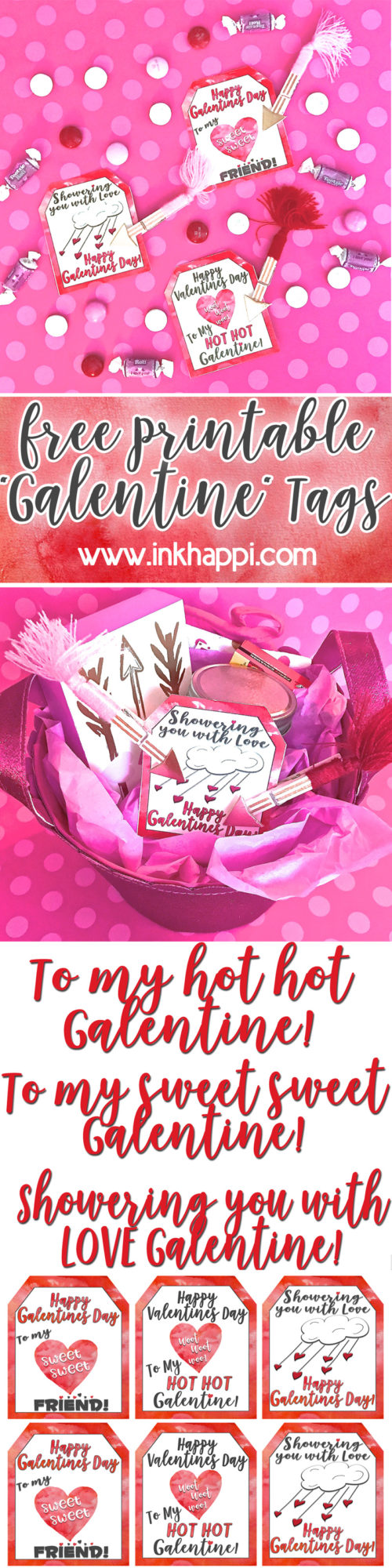 What a cute way to show the gals in your life some love with these Free Printable Galentine Gift Tags!