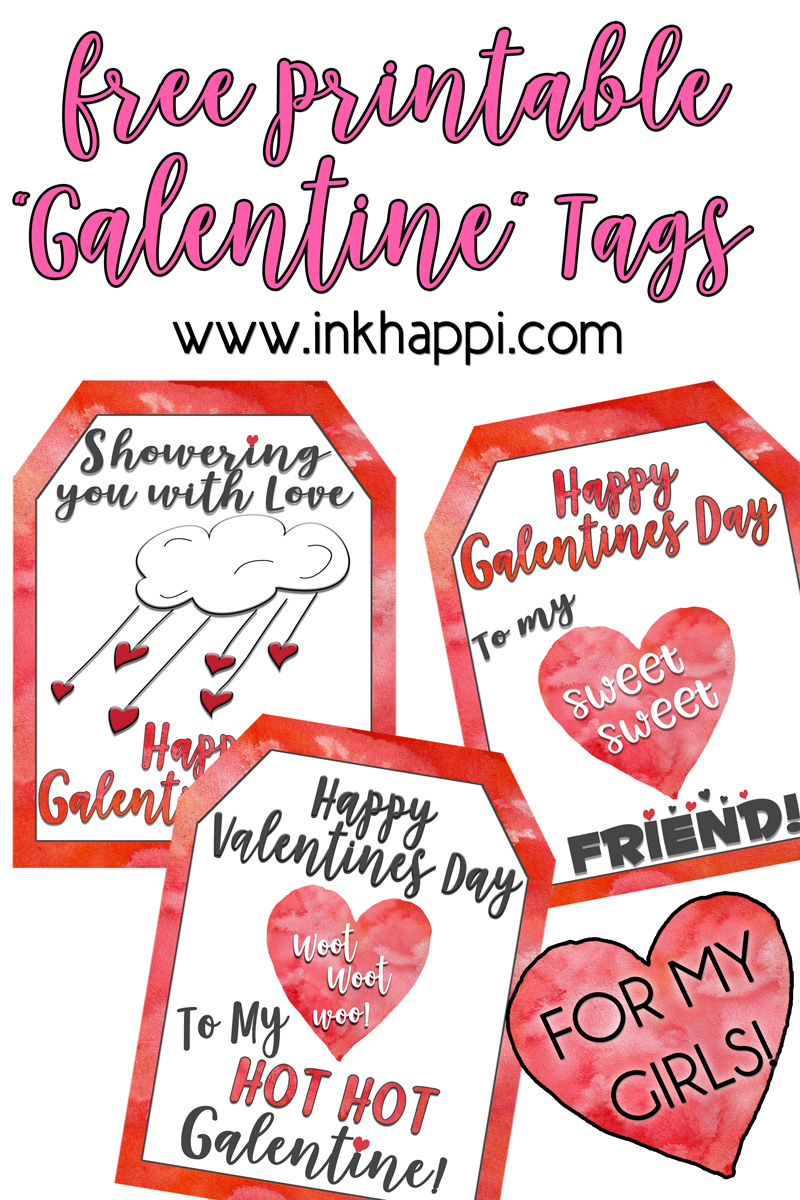 Shower your Gals with LOVE and these Free Printable Galentine Gift Tags!