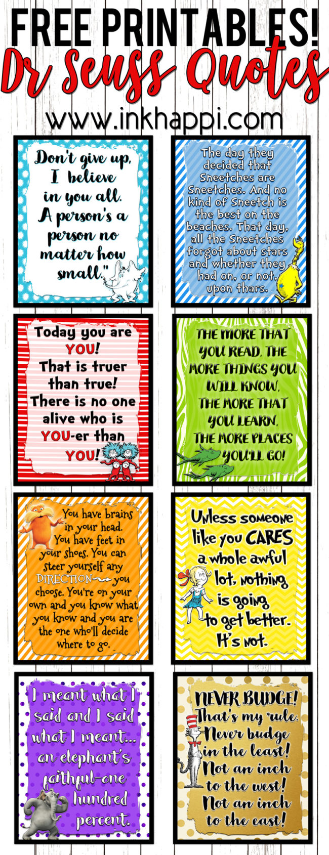 photograph relating to Free Printable Dr Seuss Quotes named Permits Rejoice a birthday with Individuals Dr Seuss Printables
