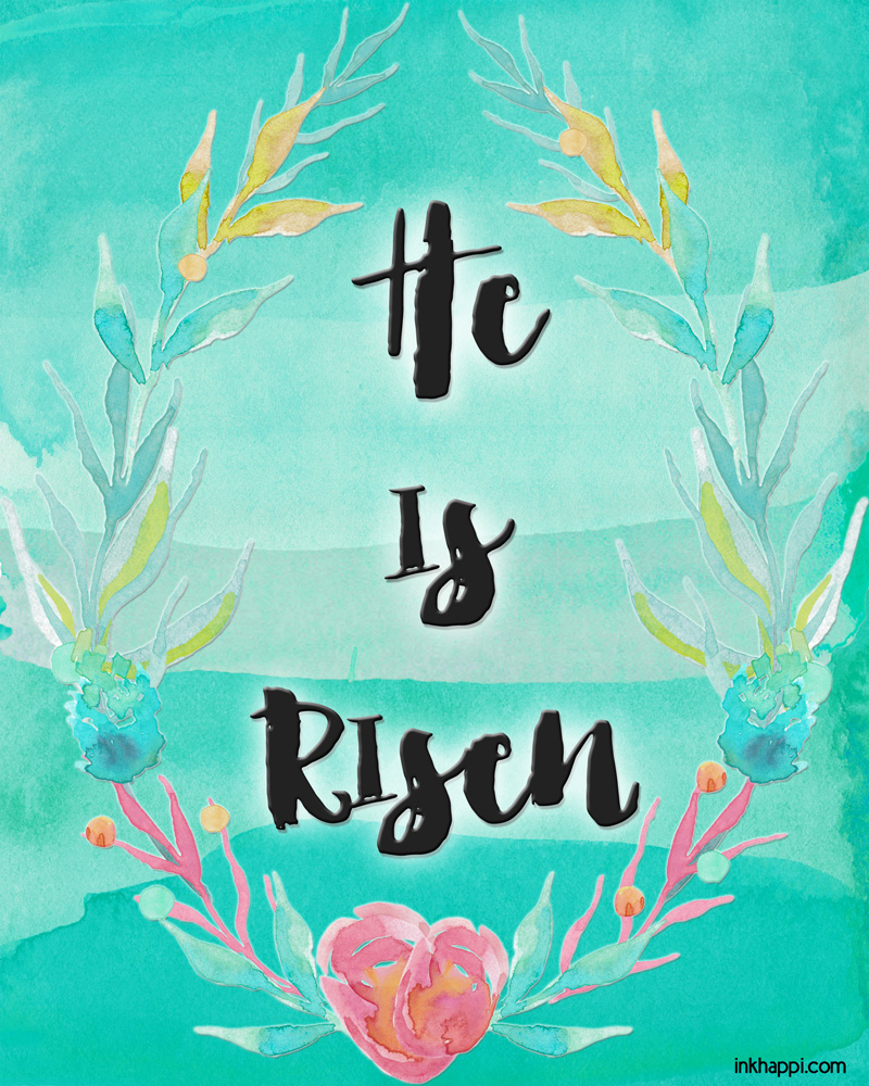 Inspirational Easter Printables in Beautiful Watercolors ...