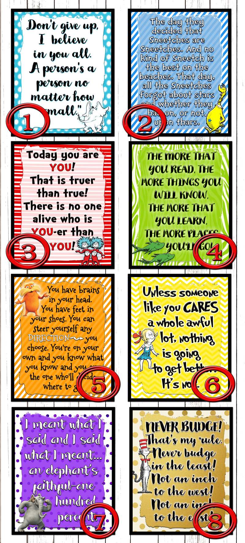 Lets Celebrate a birthday with these Dr Seuss Printables ...