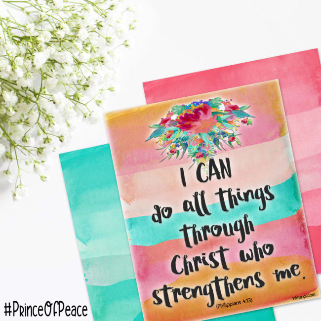 Free Inspirational Easter Printables in pretty watercolor florals