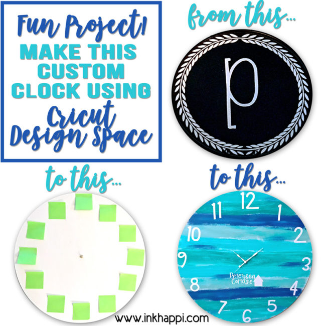 I made a custom clock using Cricut Design Space and I'm in LOVE! You can make one too.