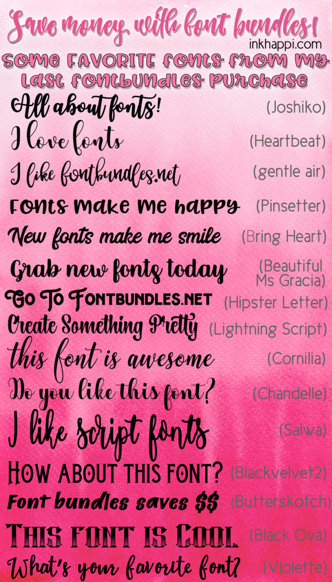 Some fabulous FontBundles fonts along with a free printable and Cricut cut file