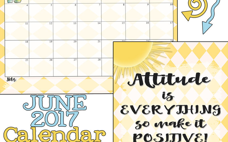 """June 2017 Calendar is here with a bit of """"Attitude""""!"""