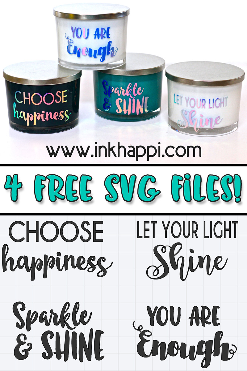 Vinyl Sayings On Glass Candles Using Cricut You Will