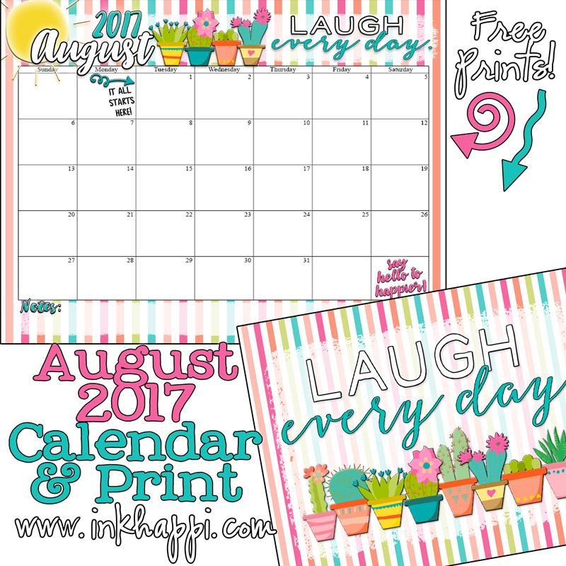 October 2017 Calendar Inkhappi