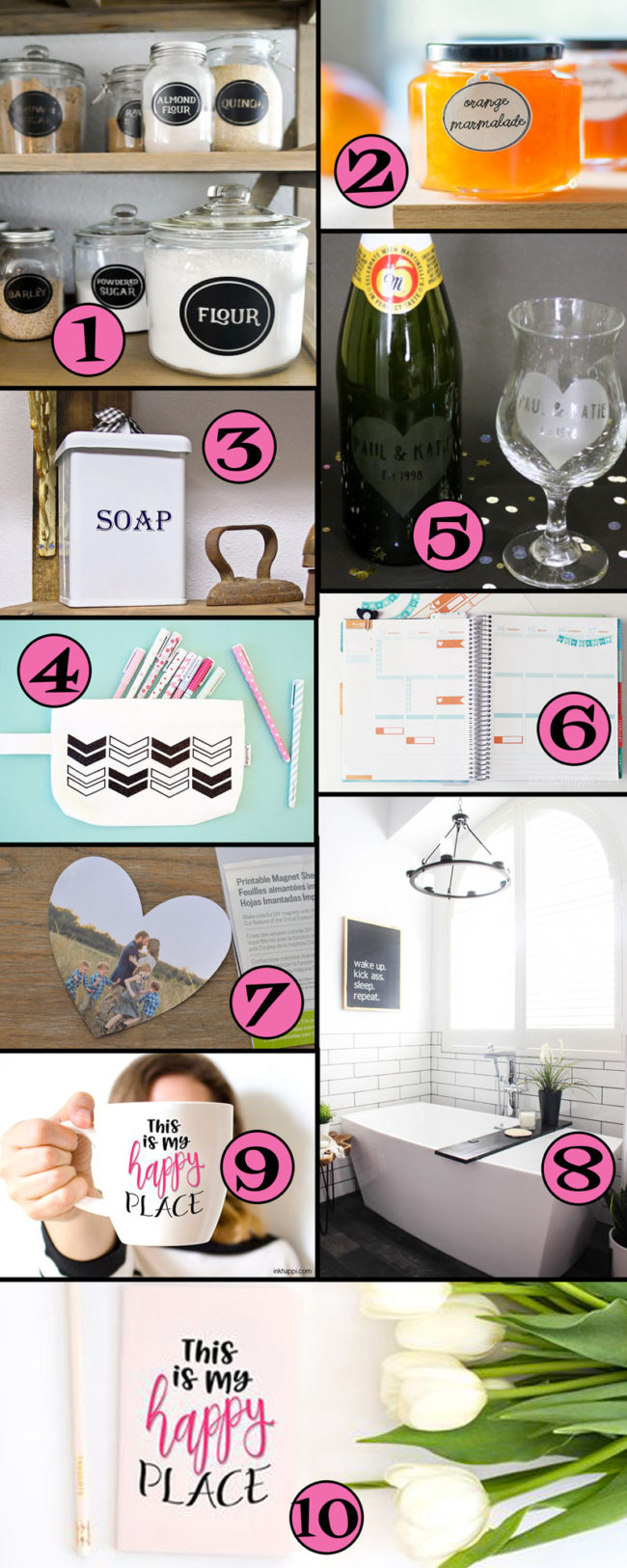 30 Cricut Project Ideas... The possibilities are endless!