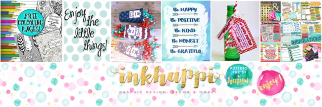 inkhappi is a happy and positive blog sharing tons of free printables!