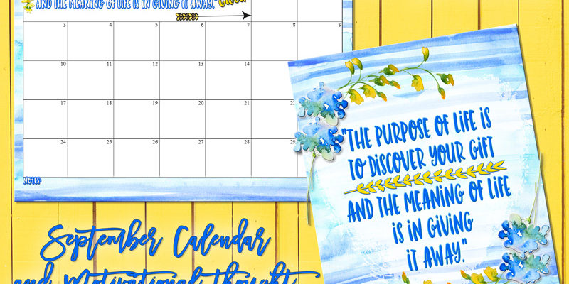 September 2017 Calendar and print from inkhappi!