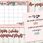 October 2017 Calendar and a Positive thought…