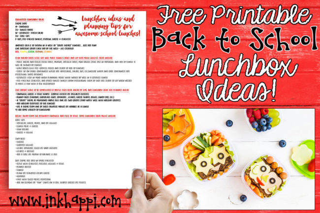 Lots of lunchbox ideas and tips for planning ahead that make school lunches easier. #freeprintable #lunchbox #school #lunches