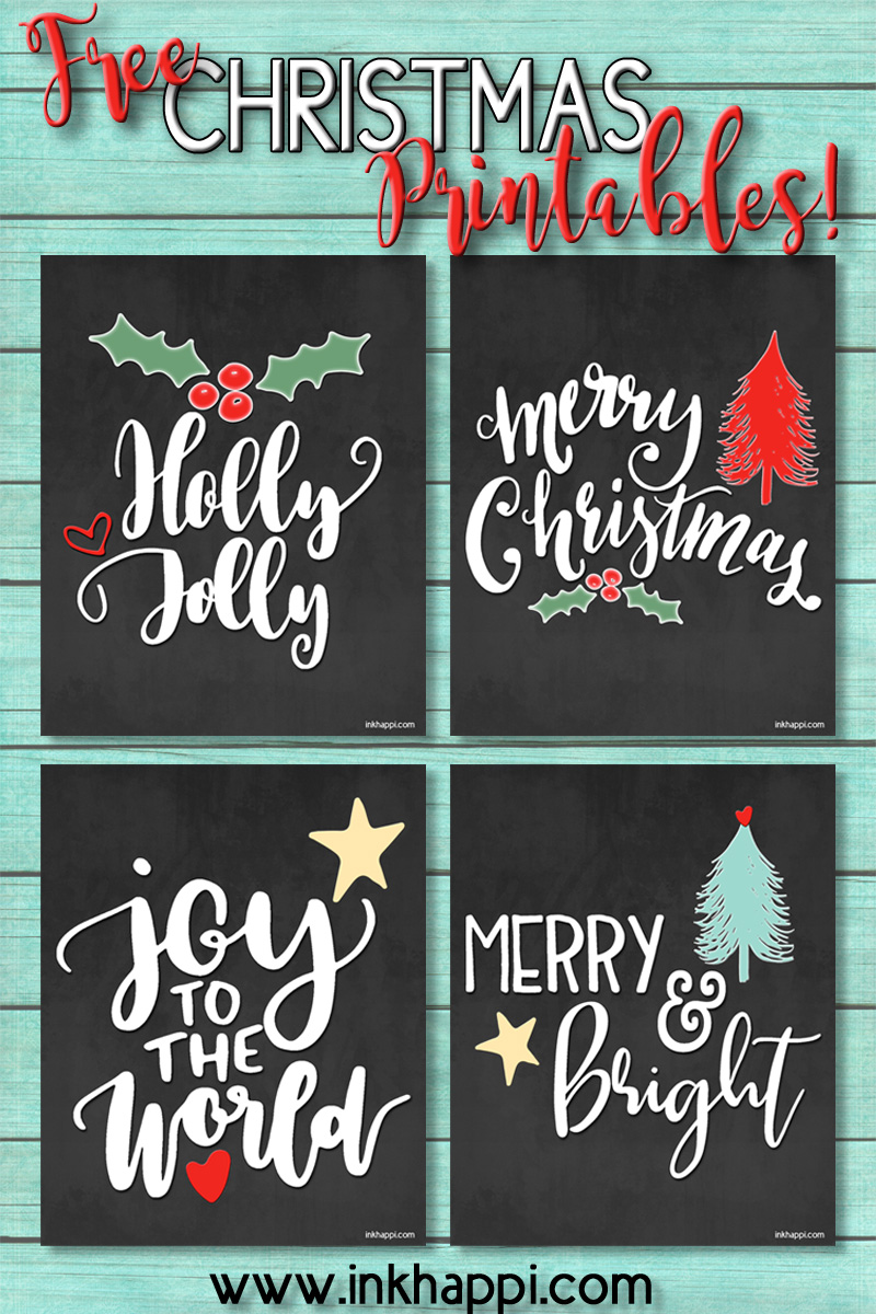 Free Christmas Printables... and they're cute! - inkhappi