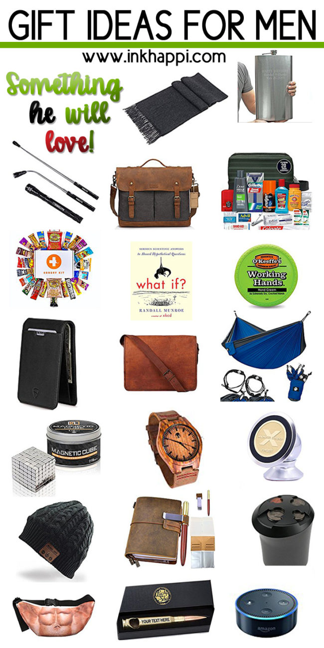 20 amazing ideas for gifts for men that will surely help lead you towards that perfect hard to find gift! #giftideas #men