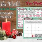 Light the World Christmas 2017 Free Printable Calendars