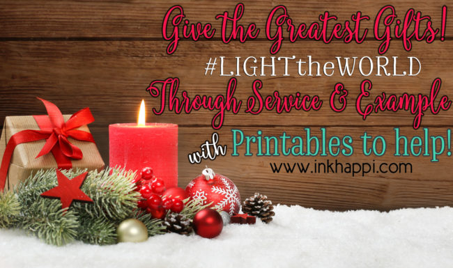 Light the World Christmas 2017. This Christmas season, use this calendar for inspiration as you plan activities to help #LightTheWorld by serving those in need. #LightTheWorld #Christmas #Service