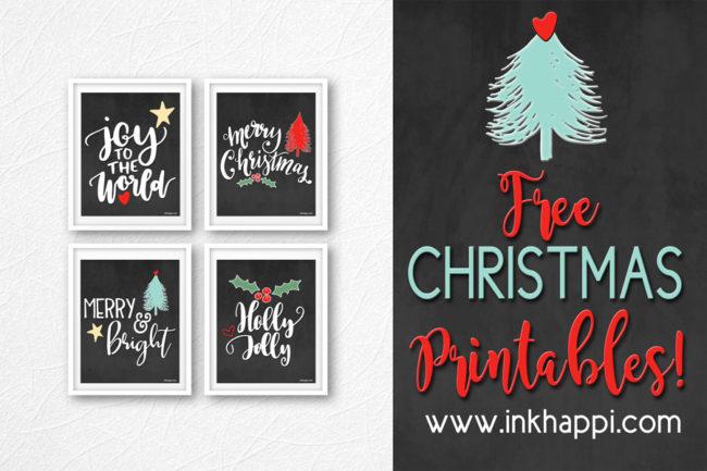 Super Cute free Christmas printables! #free #printables #christmas #merry #joy