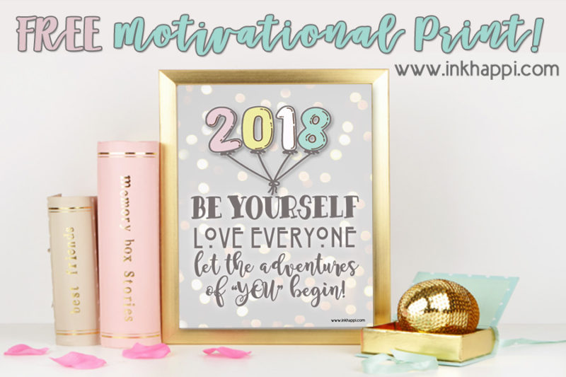 2018 ANNUAL CALENDAR free printables from inkhappi.com #calendar #2018 #freeprintables