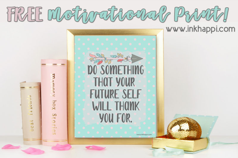 Motivational print and January 2018 Calendar from inkhappi. #freeprintables #calendar #motivation