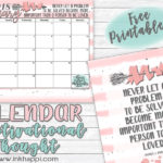 February 2018 Calendar and a thought about LOVE!