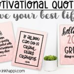25 Motivational Quotes for the new year. Create your best life!