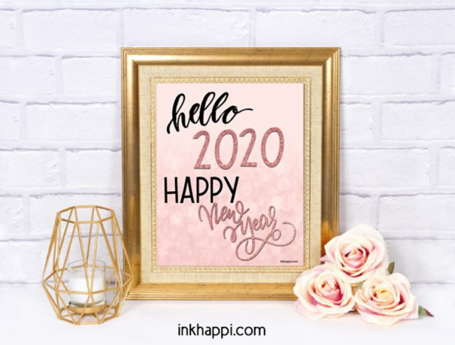 hello 2020 happy new year #freeprintables #quotes #motivation #motivationalquotes