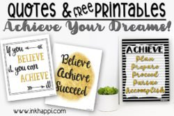 Achieve your Dreams… Plan, Prepare, Proceed, Pursue, Accomplish!