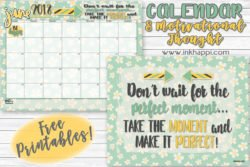 June 2018 Calendar… It's all about creating those moments!